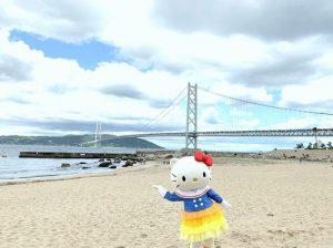 キティちゃんと舞子浜のお掃除♡